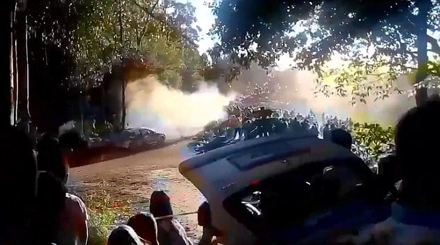 La Coruna Spain car rally crash