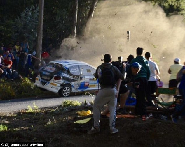 La Coruna Spain car rally crash