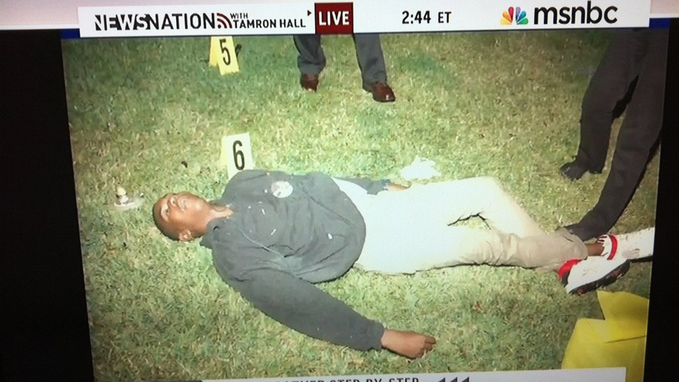 George Zimmerman tweet photo of Trayvin Martin's body