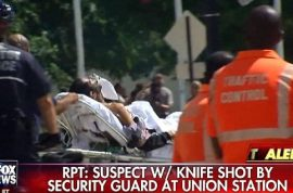Union Station shooting: Security guard shoots man stabbing girlfriend, no 9/11 terror attack