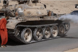 ISIS tank execution video: 19 year old Syrian army prisoner crushed to death