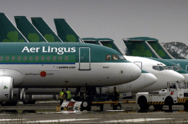Crazed Aer Lingus Passenger bites passenger then dies. Drugs arrest made