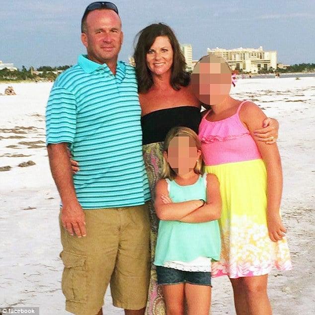 Angela Luke, second grade teacher runs over her husband