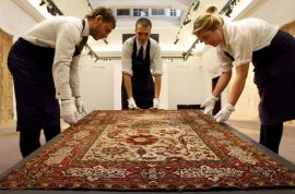 Idiot Upper East side couple agree to pay $42 000 for Persian carpet that never got cleaned.
