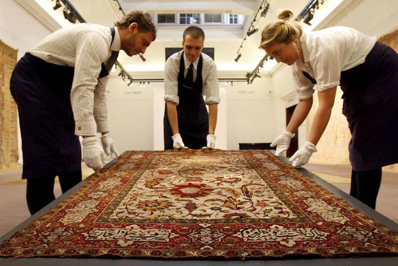 Upper East side couple pay $42 000 Persian carpet cleaned.