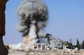 Video: ISIS blows up three people bound to Palmyra columns in new execution