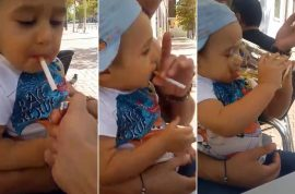Watch: Romanian toddler forced to smoke and drink booze