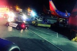 Southwest Airlines flight passenger strangles woman over reclining seat