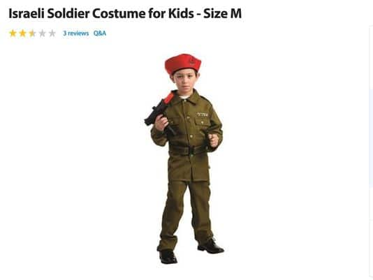 Walmart sells Israeli kid soldier costume for Halloween