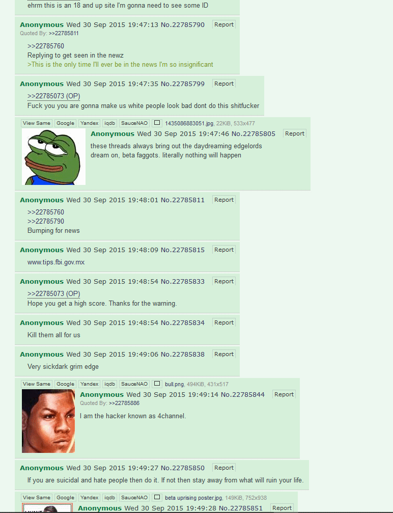 Oregon Community college shooter 4chan