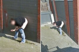 Look: Google street view captures Dutch woman peeing against wall while smoking cigarette