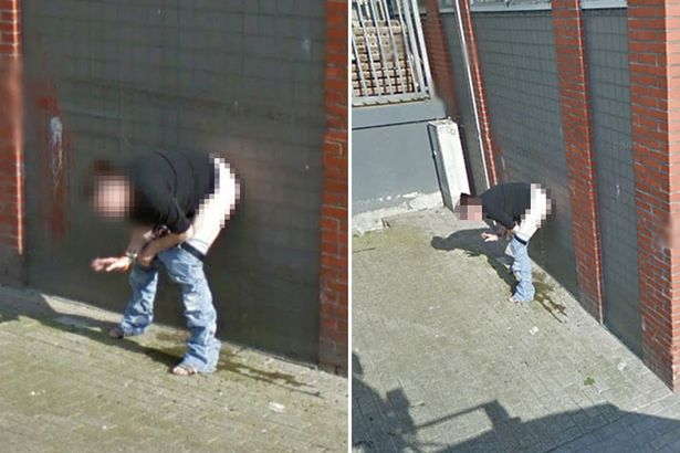 Google street view captures Dutch woman peeing