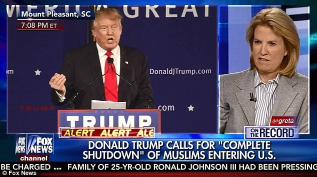 Donald Trump barring Muslims in America