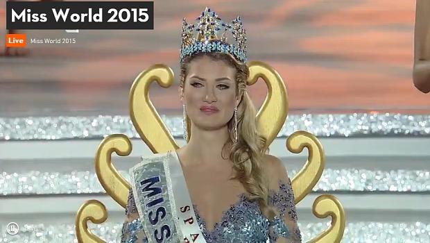Miss Spain Mireia Lalaguna Royo wins Miss world 2015