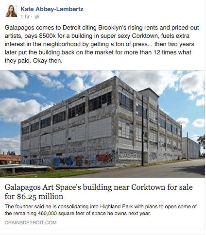Galapagos sale Corktown