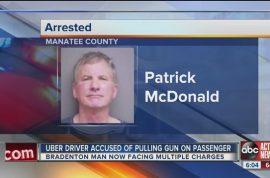 'Don't vomit in my $75K Lexus' Patrick McDonald Uber driver pulls gun on passenger