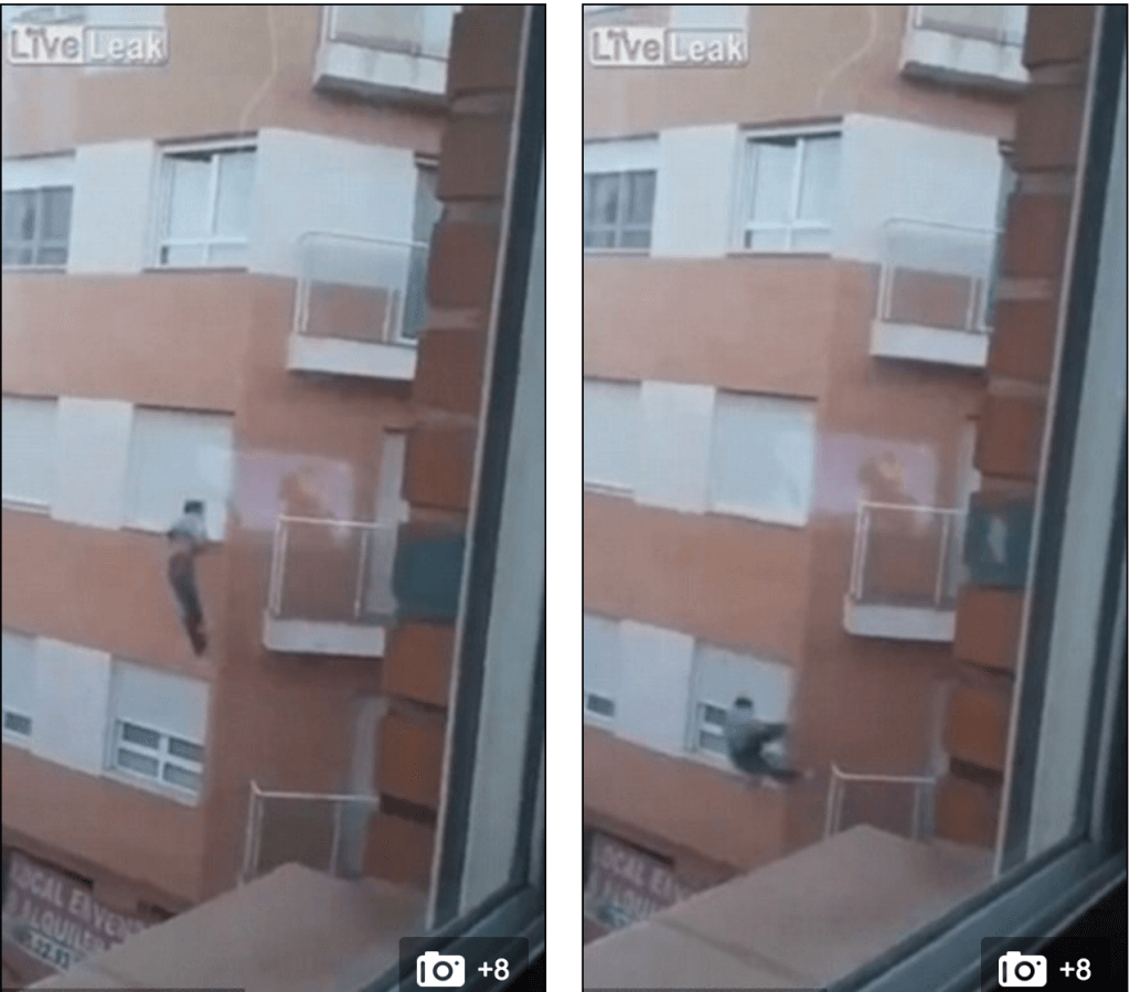 Ecuadorian man locked out plunges 30ft death