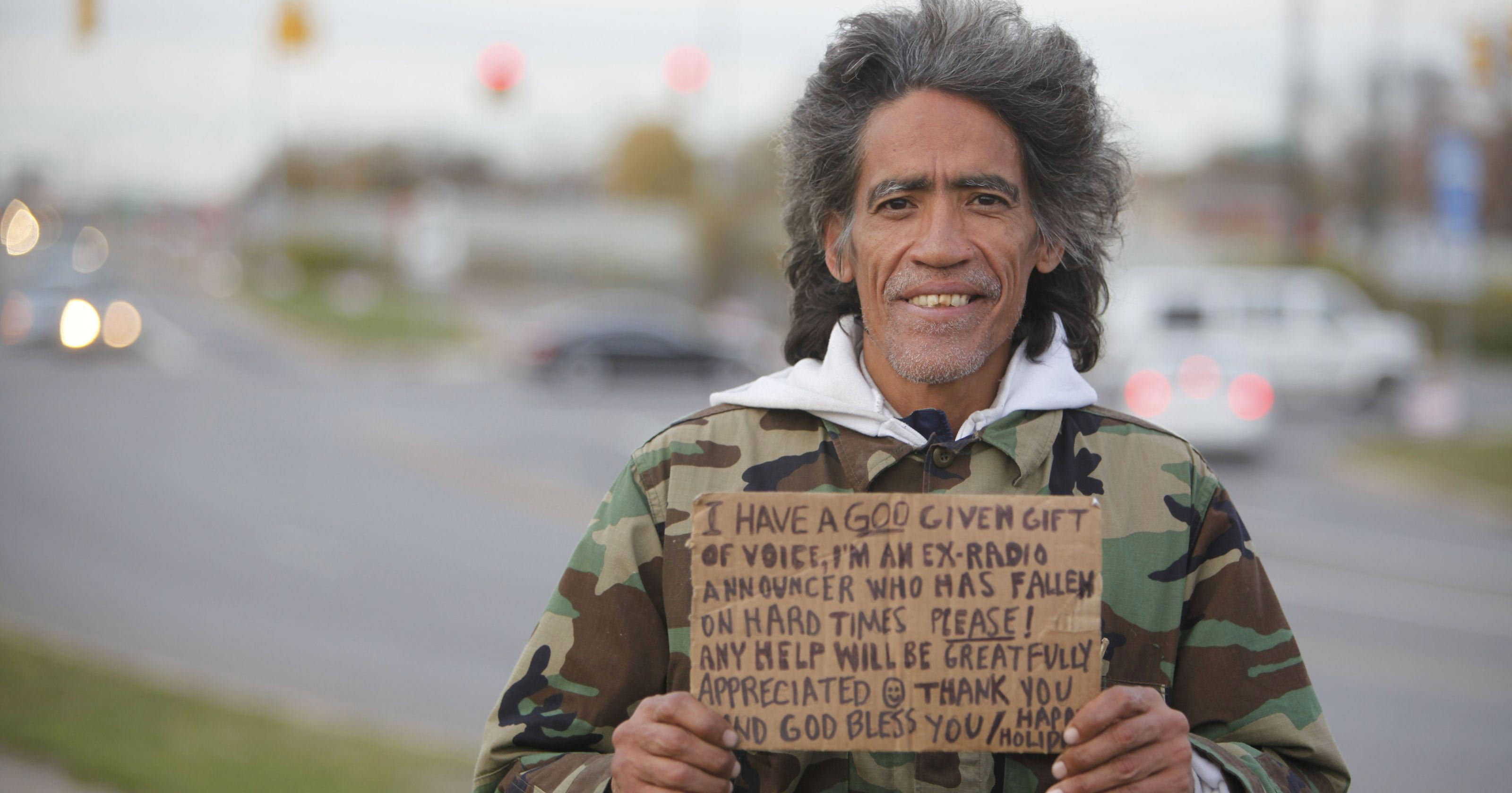 Ted Williams homeless man