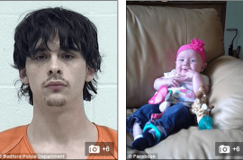 'But I only slapped her' Kyle Gooch shakes girlfriend's baby to death