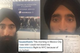 Right decision? Waris Ahluwalia kicked off Aero Mexico over turban