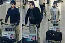 Faycal Cheffou Belgian terrorist arrested. Is he the missing man in white coat and hat?