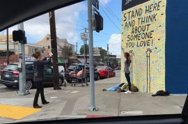 LA Hipster takes happy picture next to homeless man, internet now hates her
