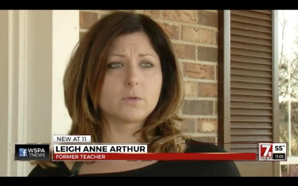 Leigh Anne Arthur student charged