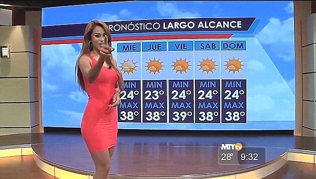 Yanet Garcia Mexican weather girl