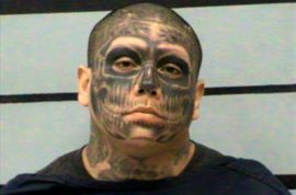 Jacob Pauda tattoo mugshot: Boyfriend punches pregnant girlfriend, chases her with butcher knife