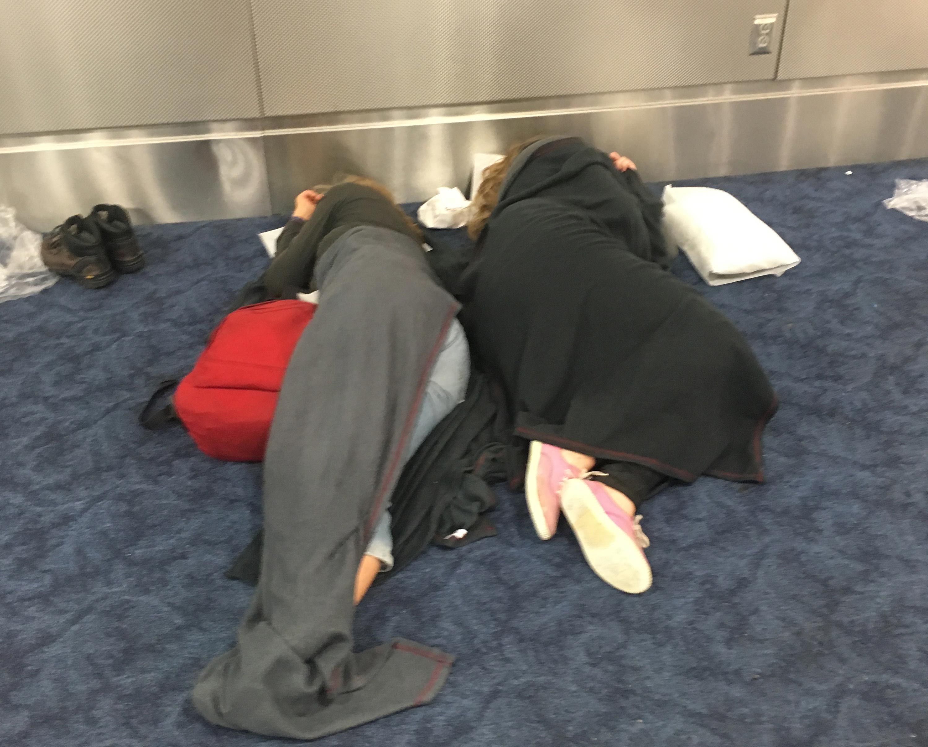 American Airlines delayed flights