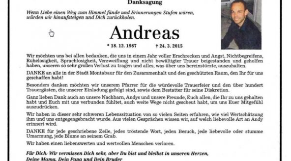 Andreas Lubitz tribute advertisement
