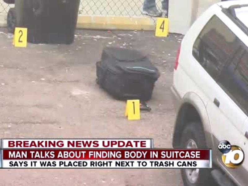 Girls body found suitcase San Diego hotel