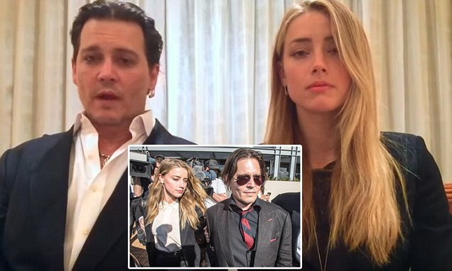Johnny Depp and Amber Heard apology video