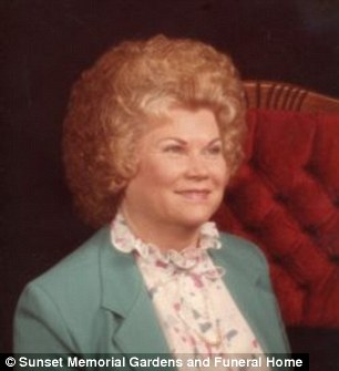 Pictured Lois Hicks who'd only died the day before.