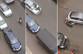 WATCH: Molenbeek Muslim woman run over by grinning fascist