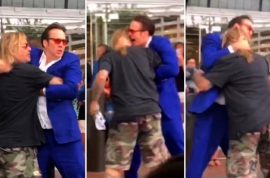 Nicholas Cage fights with Vince Neil's ego outside Las Vegas hotel