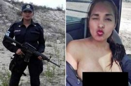 Photos: Nidia Garcia Mexican cop takes topless selfie with gun faces sack