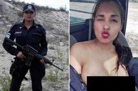 Photos: Nidia Garcia Mexican cop takes topless selfie with gun faces sack