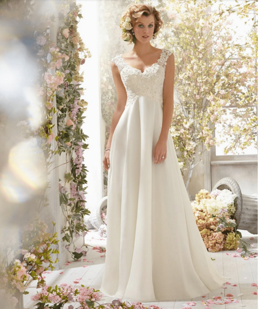 Short and Chiffon Wedding Dresses