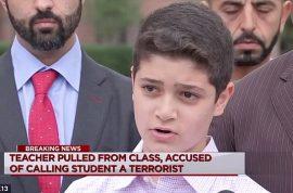 'You're a terrorist' Waleed Abushaaban Muslim 12 year old boy's family demands school teacher's firing