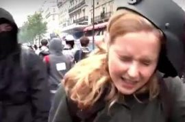 Why was she targeted? Anna Baranova journalist struck by masked protester live on air