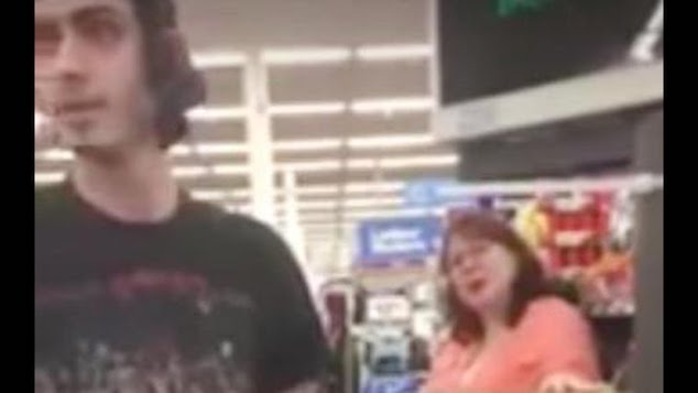 Food Stamps Walmart woman shames man