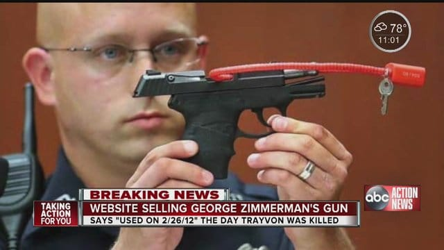 GunBroker cancels selling George Zimmerman gun