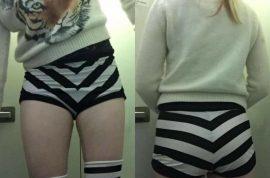Was Maggie McMuffin JetBlue flyer slut-shamed over short shorts?
