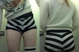 Was Maggie McMuffin JetBlue flyer slut-shamed over short shorts?