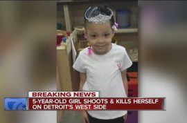 Bang! Mariah Davis Detroit five year old toddler accidentally shoots self dead