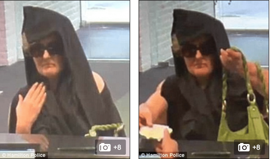 NJ hooded granny bandit