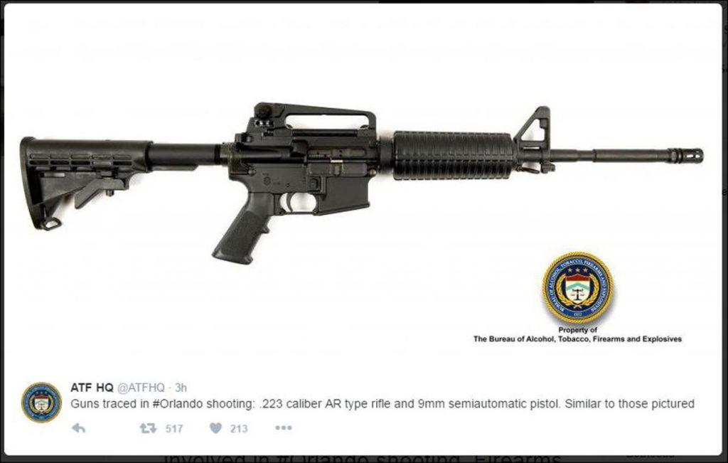 Omar Mateen AR-15 rifle