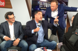 Alex Jones crashes Young Turks show, Cenk Uygur loses his shxt