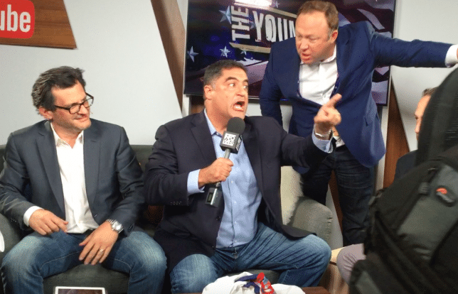 Alex Jones crashes Young Turks show